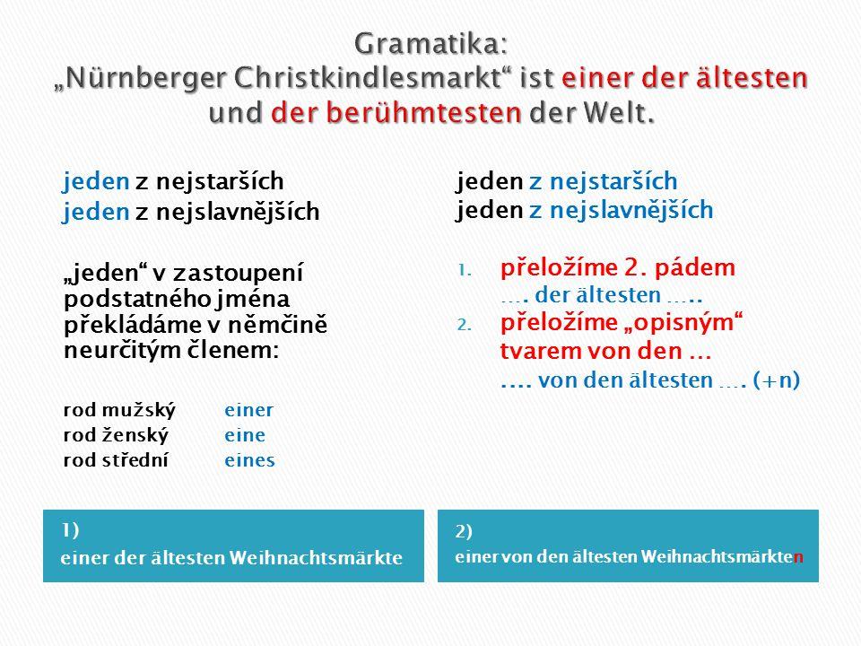 """Gramatika: """"Nürnberger Christkindlesmarkt ist einer der ältesten und der berühmtesten der Welt."""