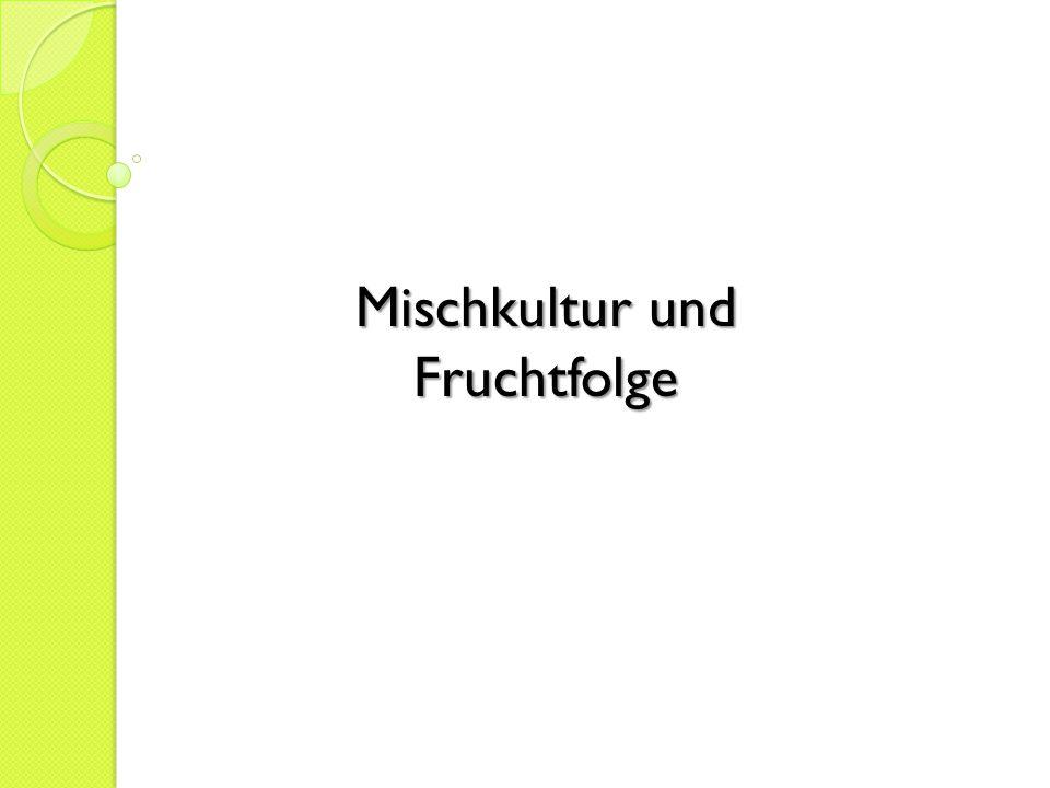 Mischkultur und Fruchtfolge