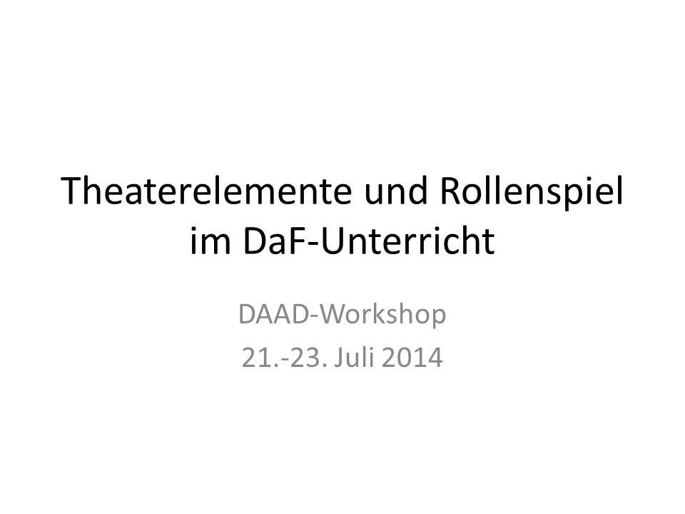 Theaterelemente und Rollenspiel im DaF-Unterricht