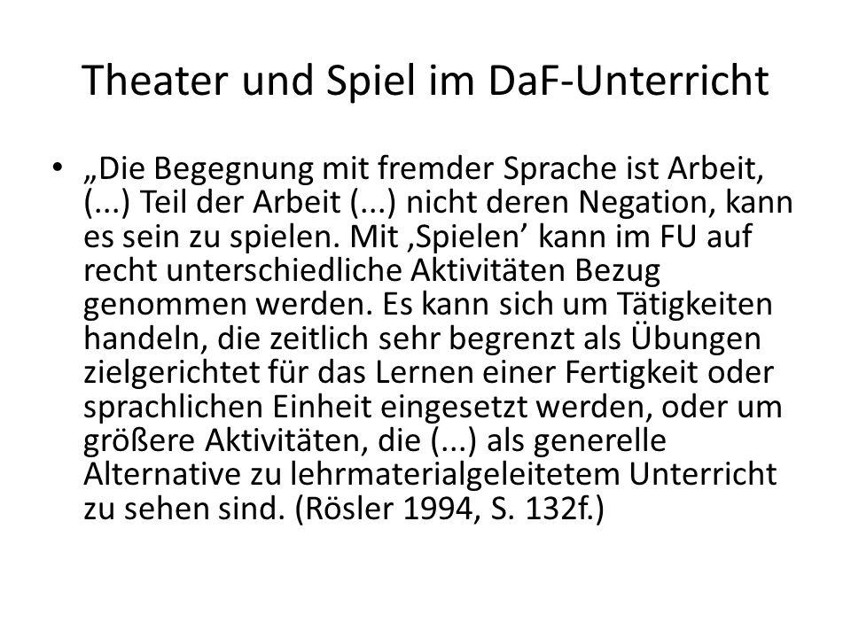 Theater und Spiel im DaF-Unterricht