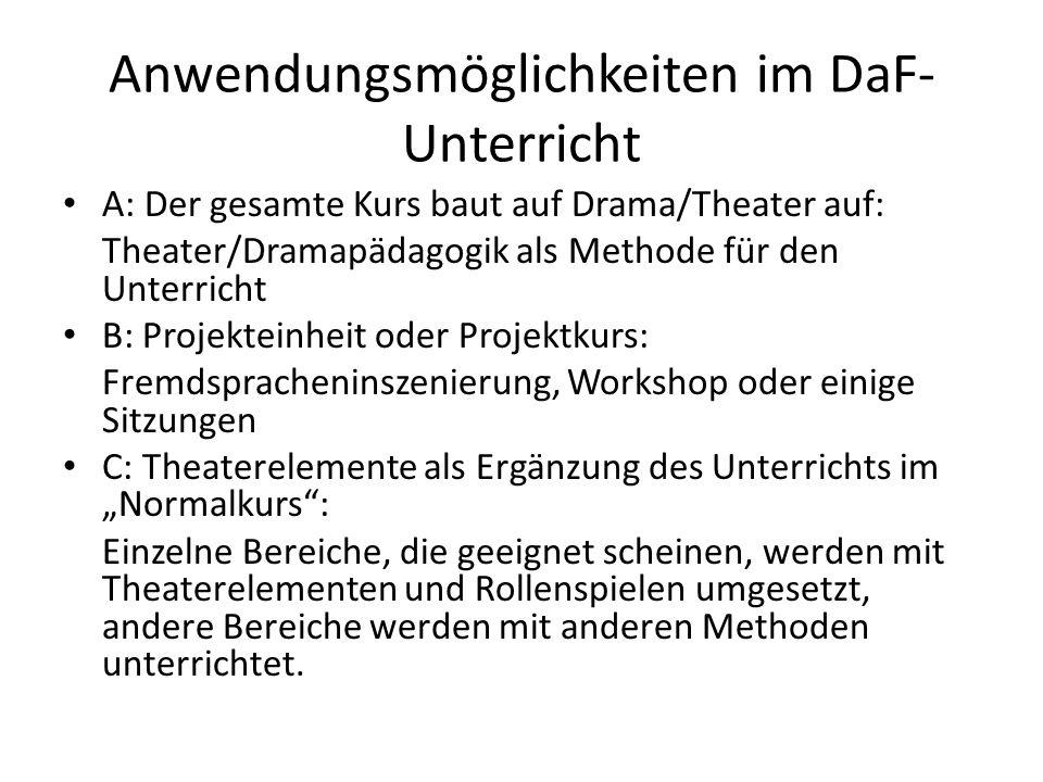Anwendungsmöglichkeiten im DaF-Unterricht
