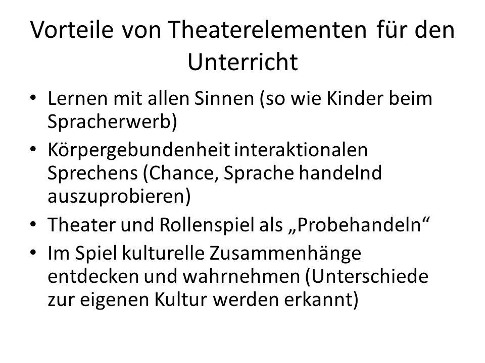 Vorteile von Theaterelementen für den Unterricht