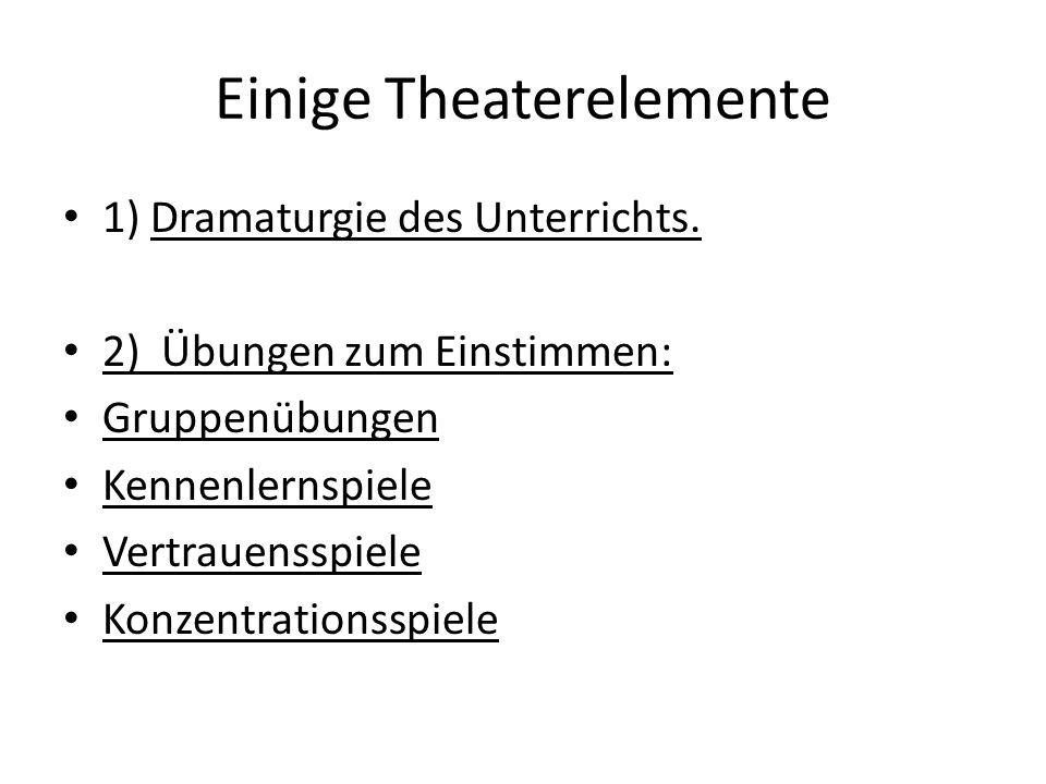 Einige Theaterelemente