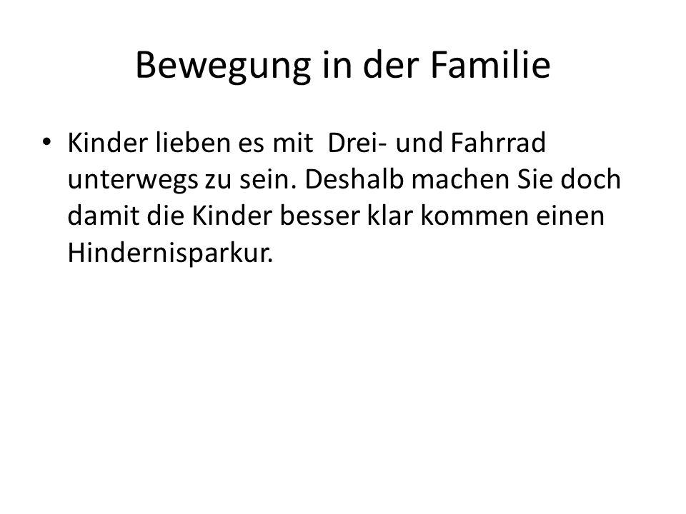 Bewegung in der Familie