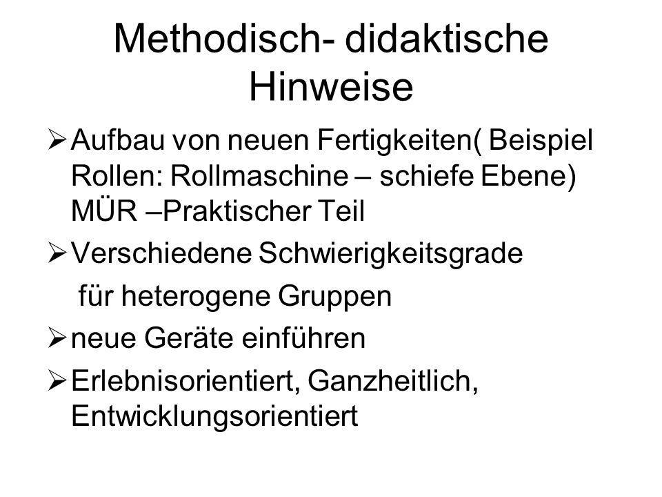 Methodisch- didaktische Hinweise