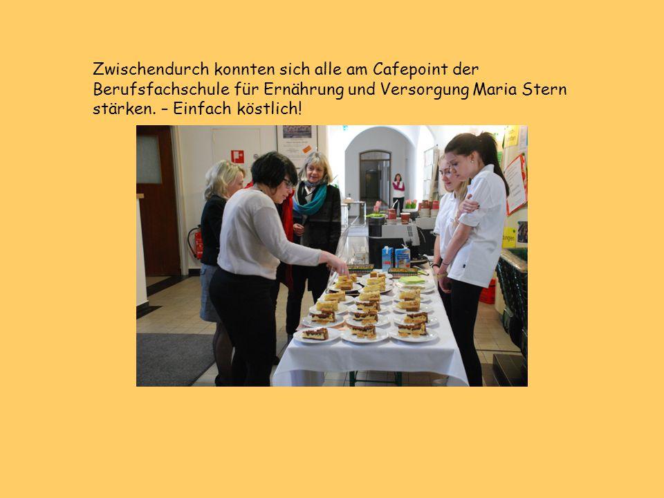 Zwischendurch konnten sich alle am Cafepoint der Berufsfachschule für Ernährung und Versorgung Maria Stern stärken.