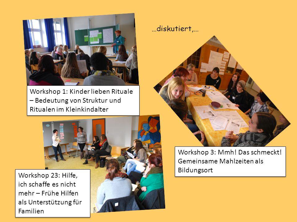 …diskutiert,… Workshop 1: Kinder lieben Rituale – Bedeutung von Struktur und Ritualen im Kleinkindalter.