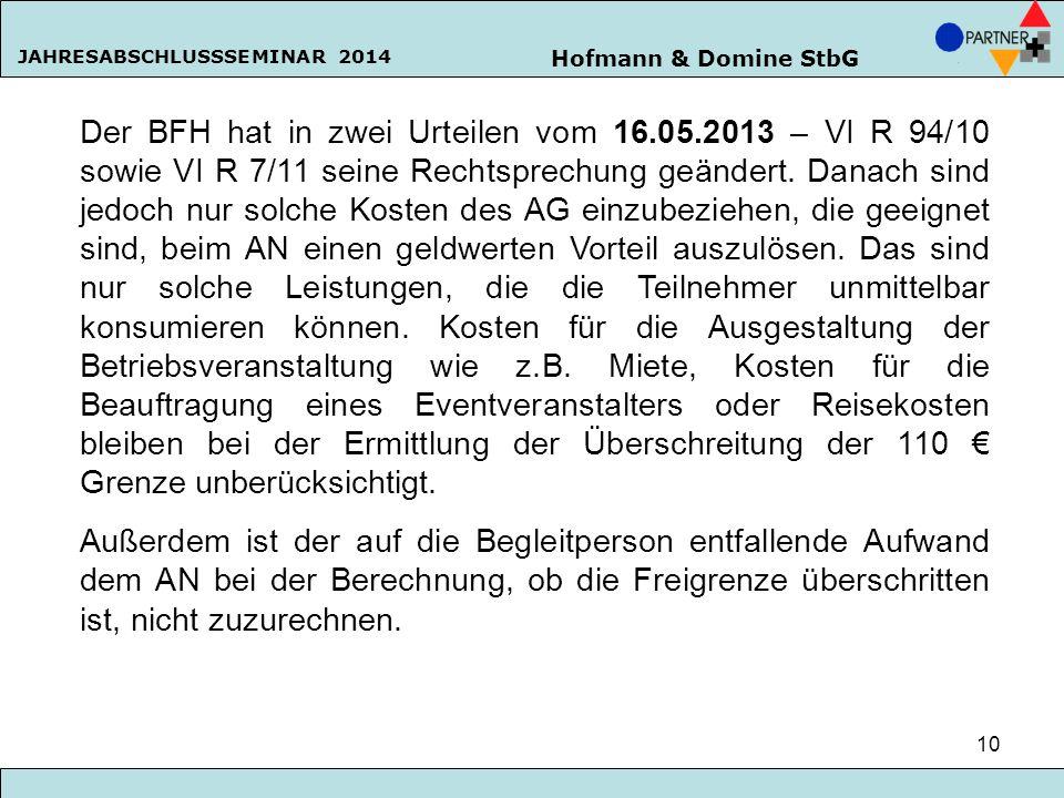 Der BFH hat in zwei Urteilen vom 16. 05