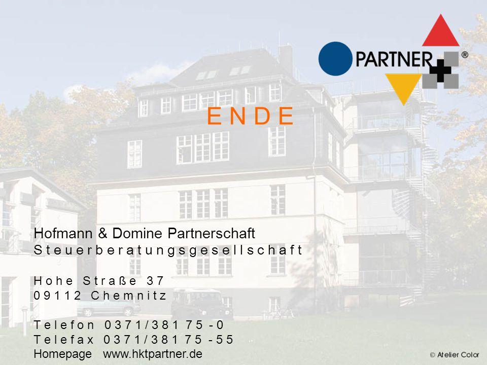 E N D E E N D E Hofmann Klinksiek & Tschater