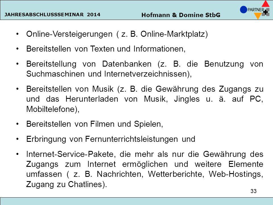 Online-Versteigerungen ( z. B. Online-Marktplatz)
