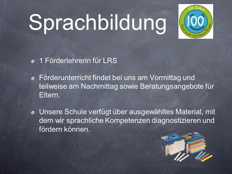 Sprachbildung 1 Förderlehrerin für LRS