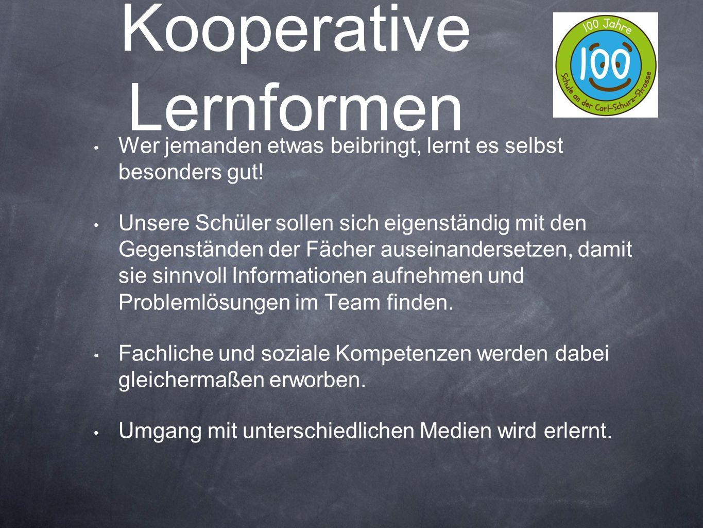 Kooperative Lernformen