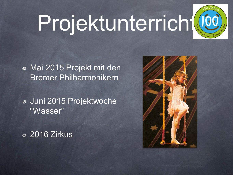 Projektunterricht Mai 2015 Projekt mit den Bremer Philharmonikern