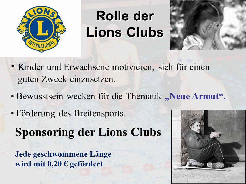 Rolle der Lions Clubs Kinder und Erwachsene motivieren, sich für einen guten Zweck einzusetzen.