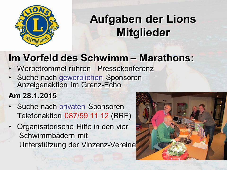 Aufgaben der Lions Mitglieder