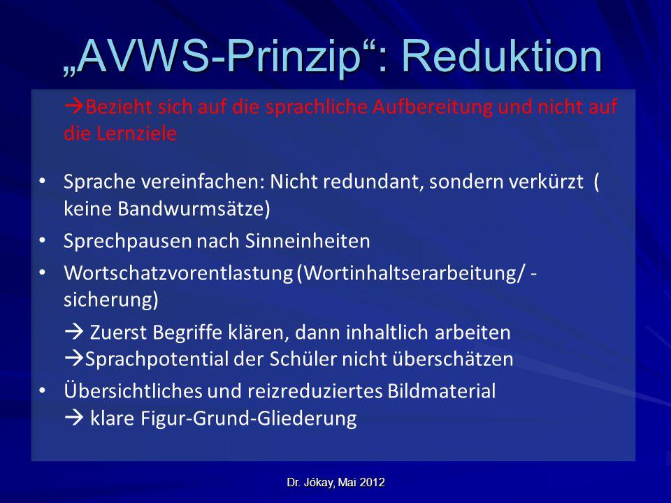 """""""AVWS-Prinzip : Reduktion"""