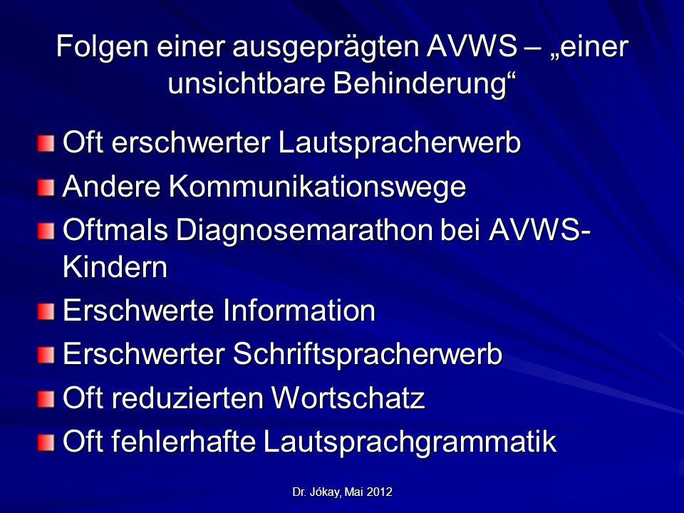 """Folgen einer ausgeprägten AVWS – """"einer unsichtbare Behinderung"""