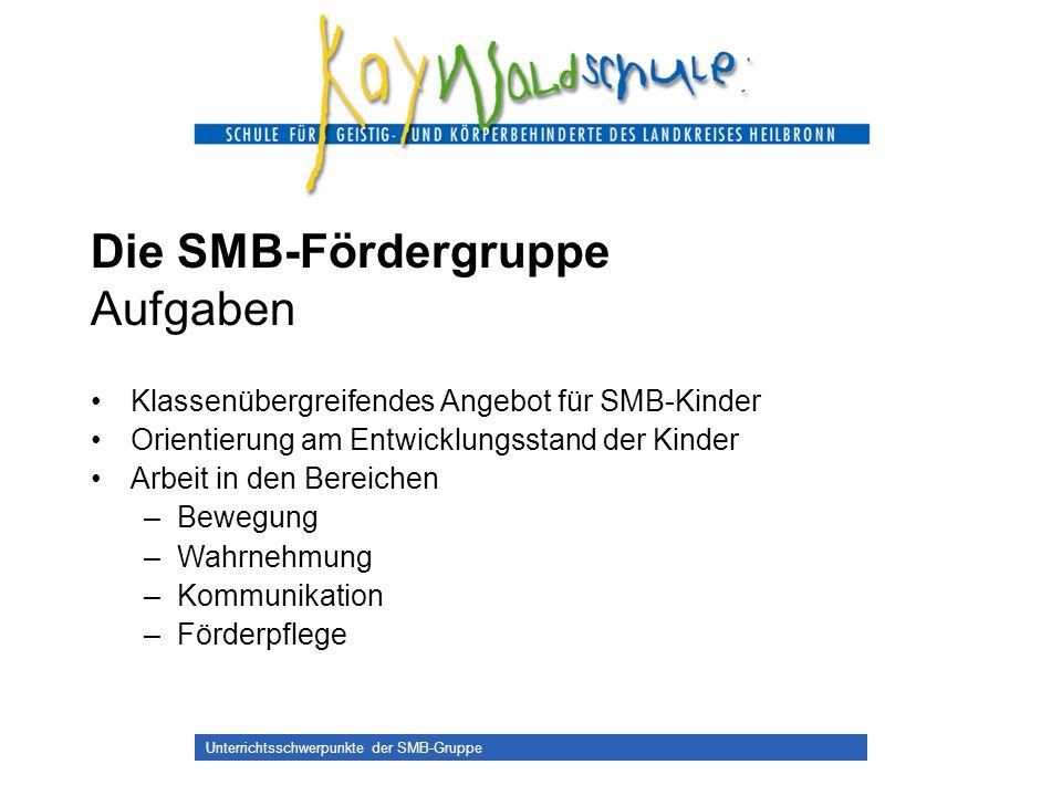 Die SMB-Fördergruppe Aufgaben