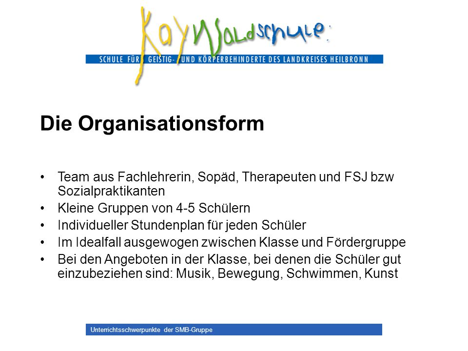 Die Organisationsform