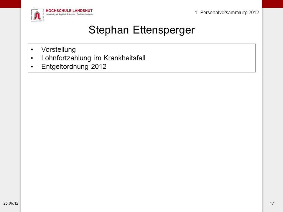 Stephan Ettensperger Vorstellung Lohnfortzahlung im Krankheitsfall