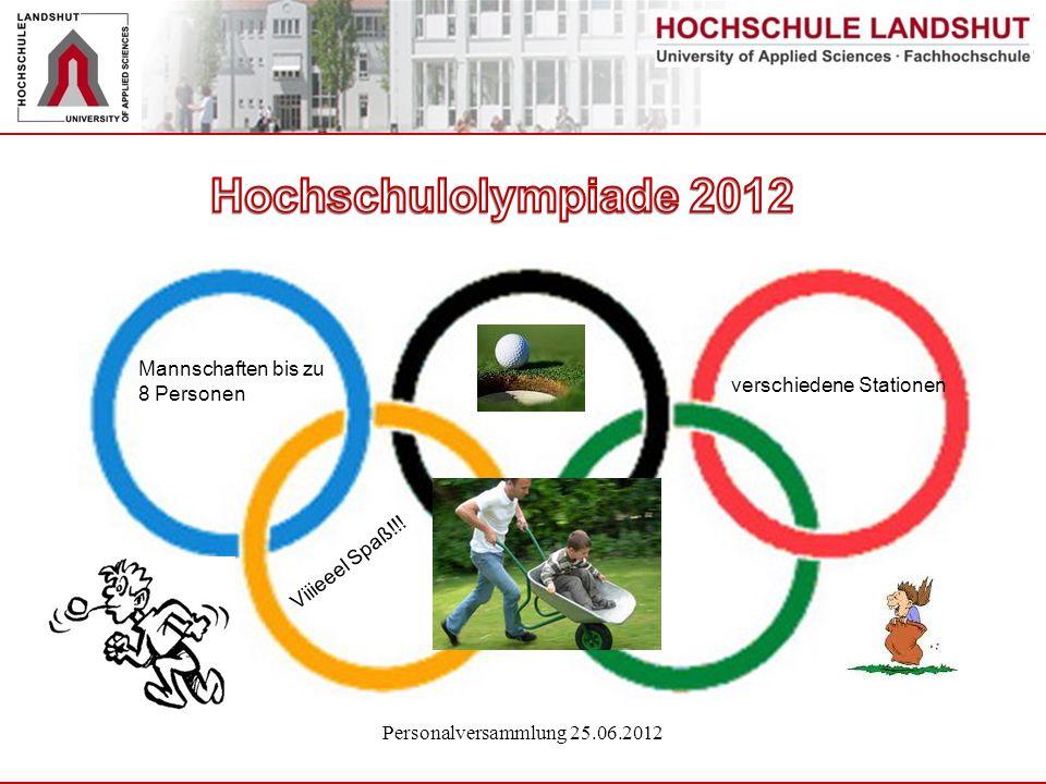 Hochschulolympiade 2012 Mannschaften bis zu 8 Personen