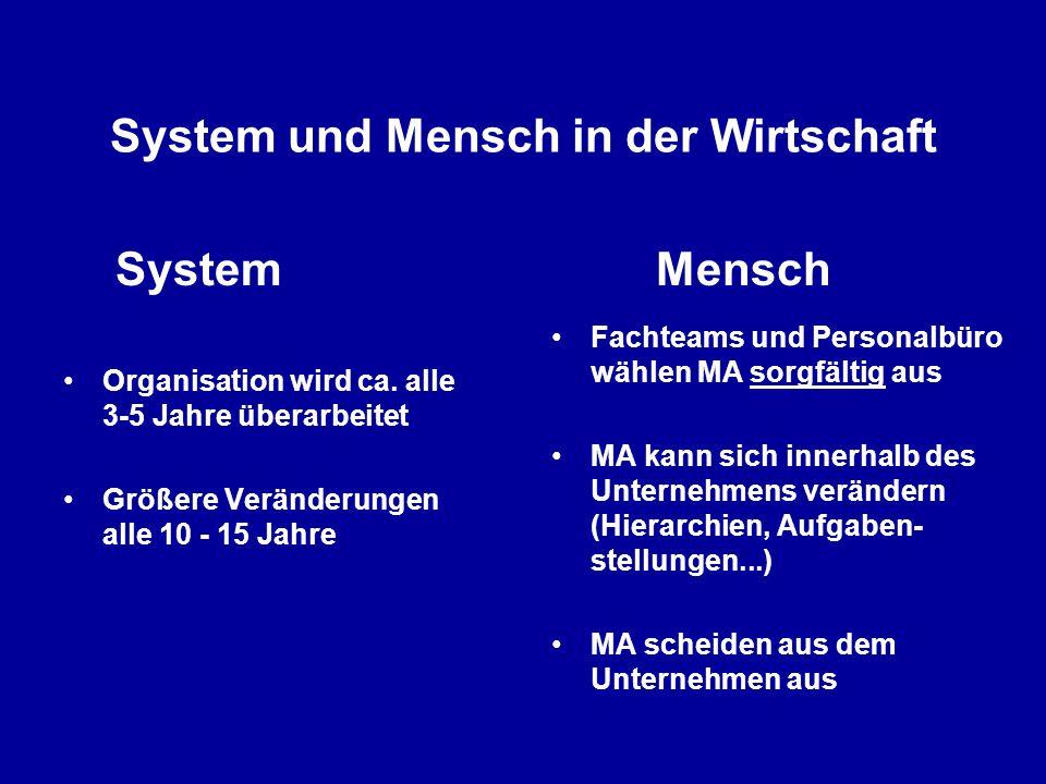 System und Mensch in der Wirtschaft