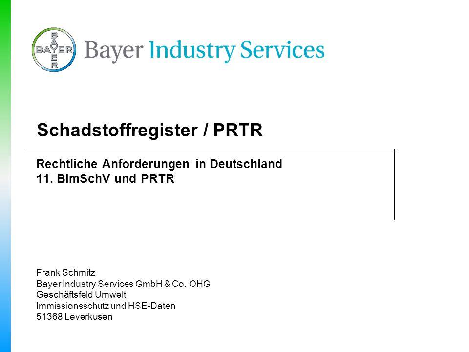 Schadstoffregister / PRTR