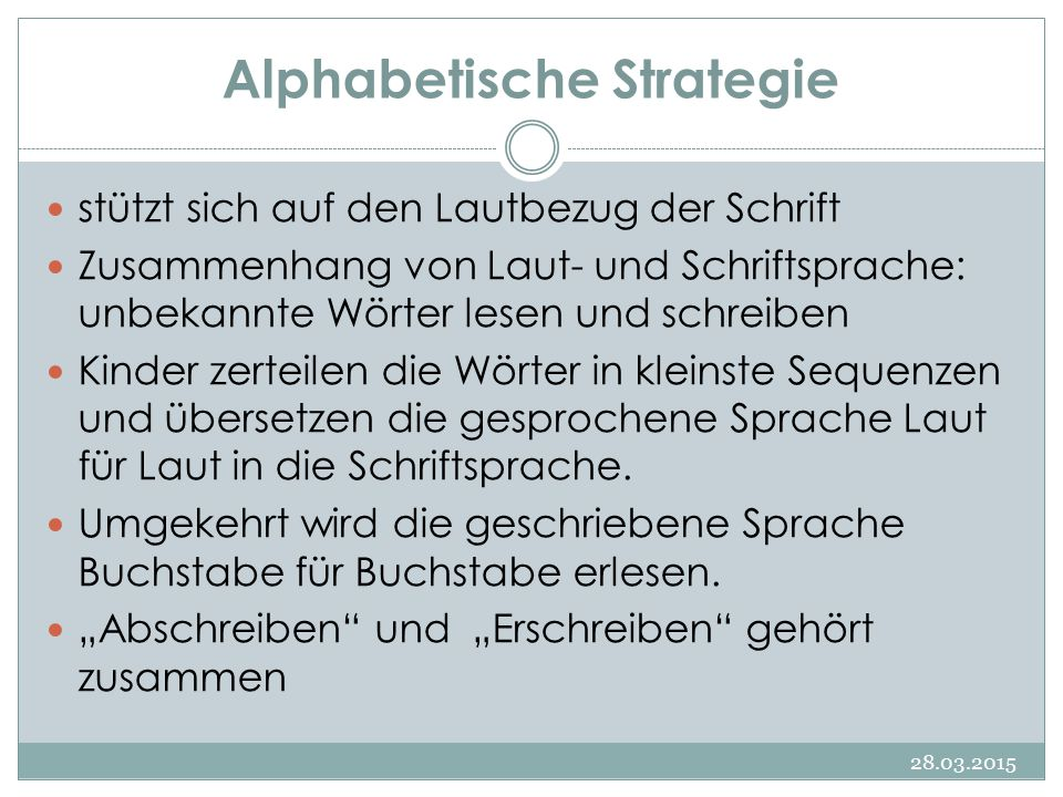 Alphabetische Strategie