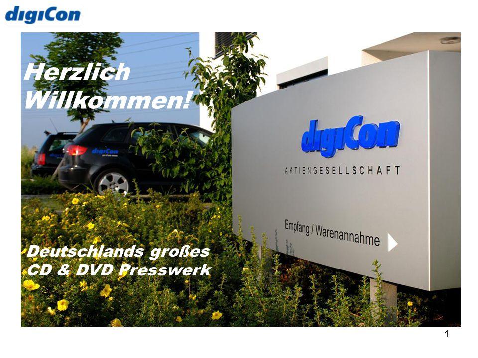 Herzlich Willkommen! Deutschlands großes CD & DVD Presswerk