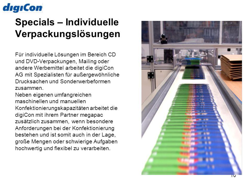 Specials – Individuelle Verpackungslösungen