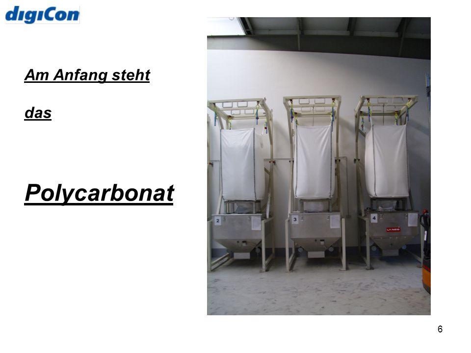 Am Anfang steht das Polycarbonat
