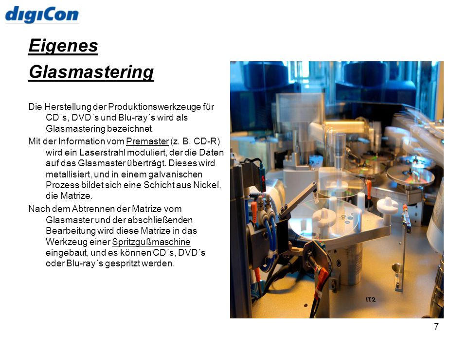 Eigenes Glasmastering