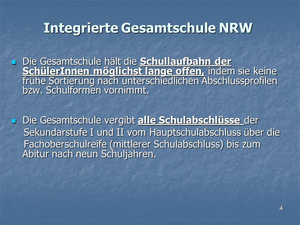 Integrierte Gesamtschule NRW