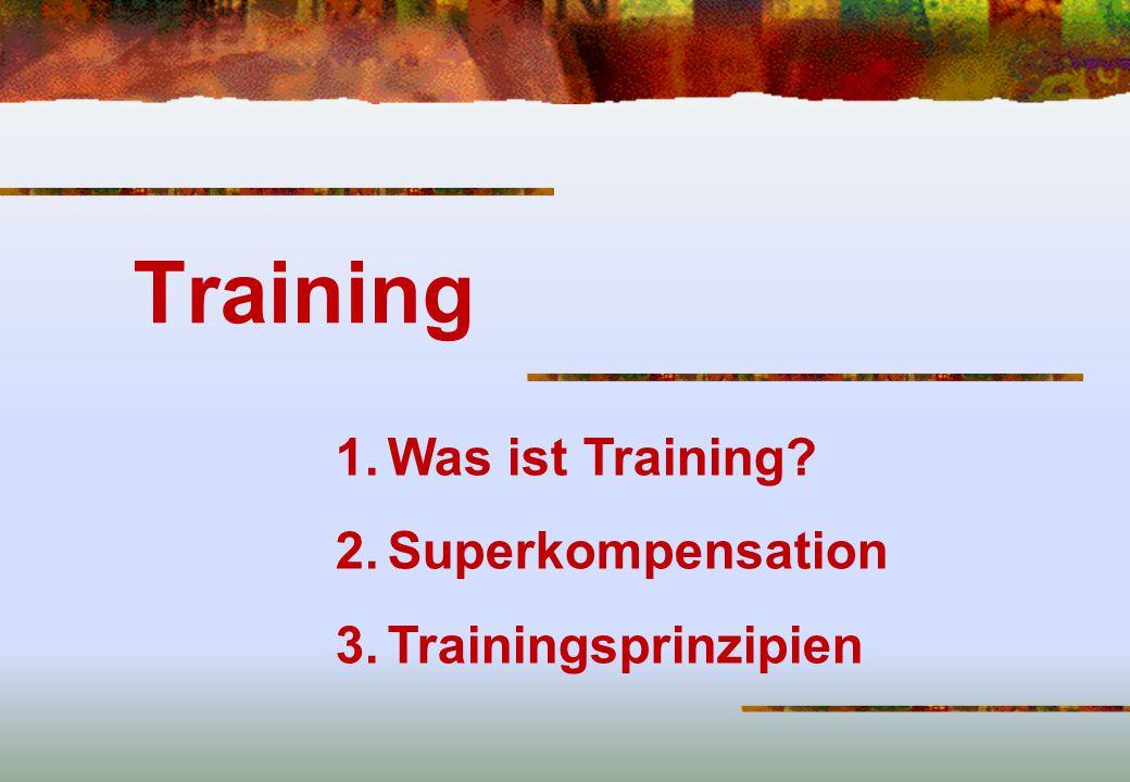 Training Was ist Training Superkompensation Trainingsprinzipien
