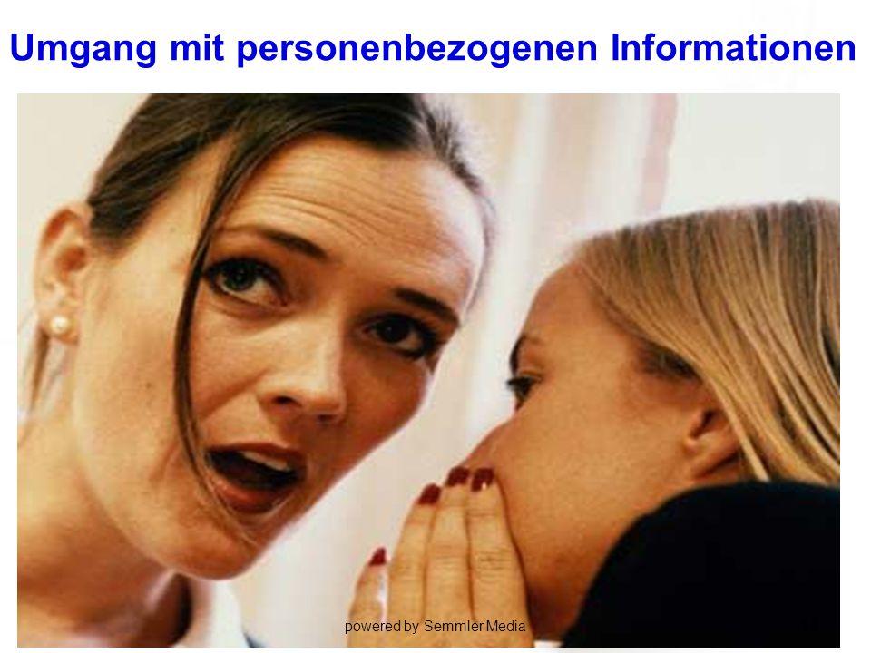 Umgang mit personenbezogenen Informationen