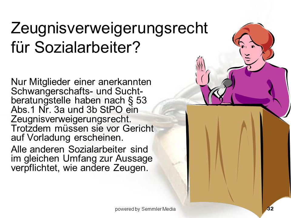 Zeugnisverweigerungsrecht für Sozialarbeiter