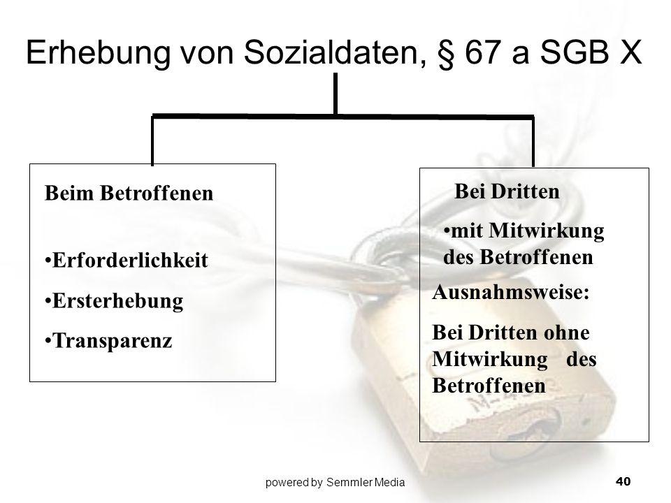 Erhebung von Sozialdaten, § 67 a SGB X