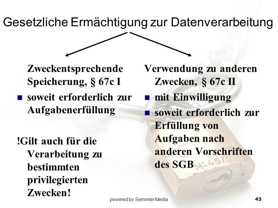 Gesetzliche Ermächtigung zur Datenverarbeitung