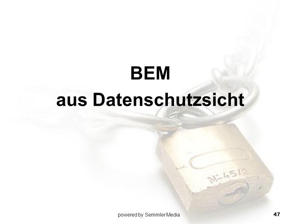 BEM aus Datenschutzsicht