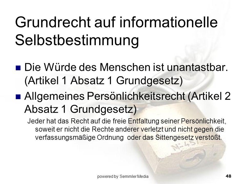 Grundrecht auf informationelle Selbstbestimmung