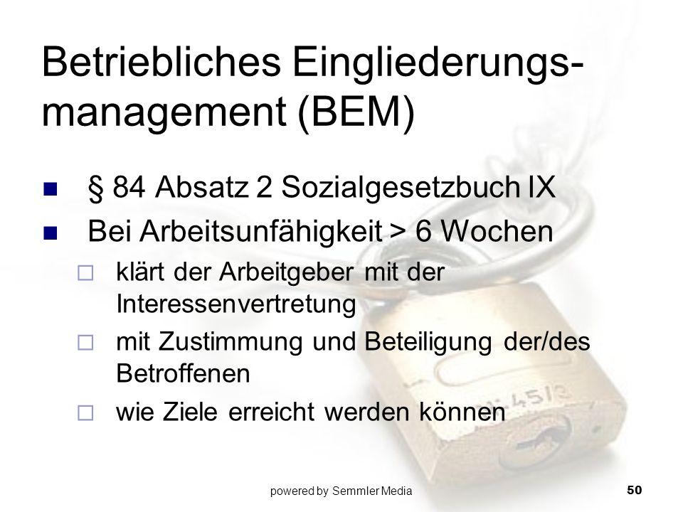 Betriebliches Eingliederungs-management (BEM)