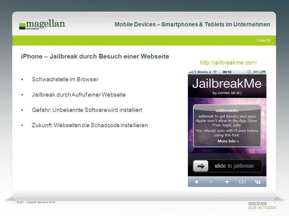 iPhone – Jailbreak durch Besuch einer Webseite