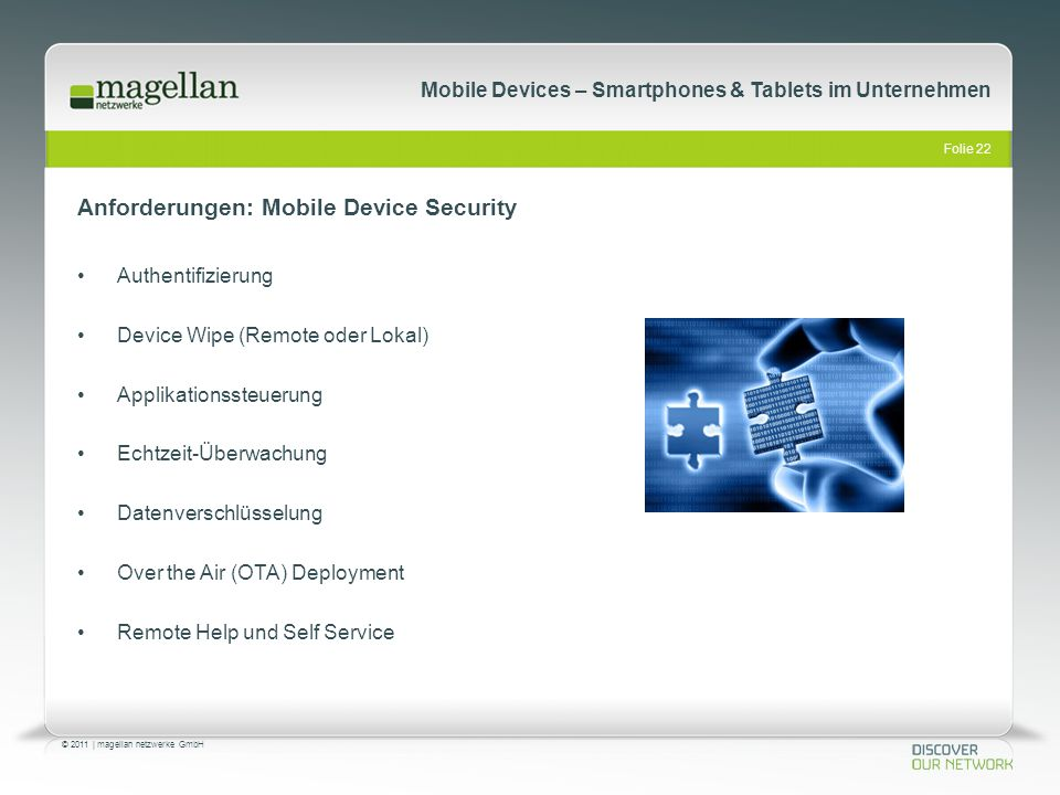 Anforderungen: Mobile Device Security