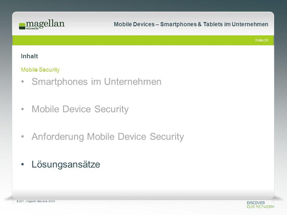 Smartphones im Unternehmen Mobile Device Security