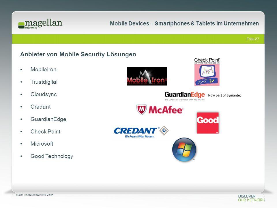 Anbieter von Mobile Security Lösungen