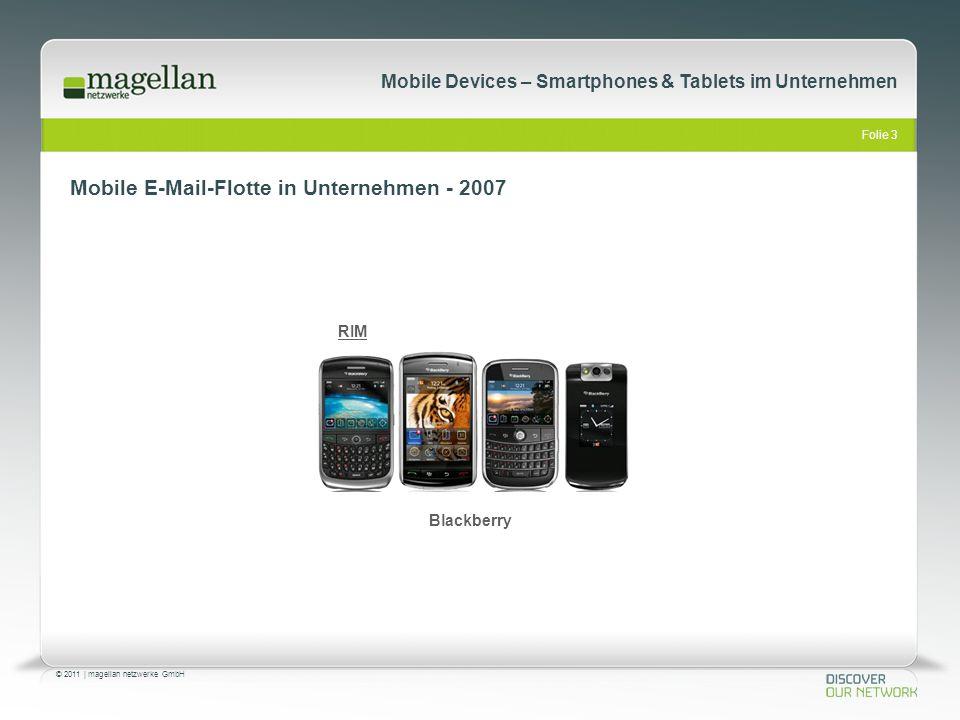 Mobile E-Mail-Flotte in Unternehmen - 2007