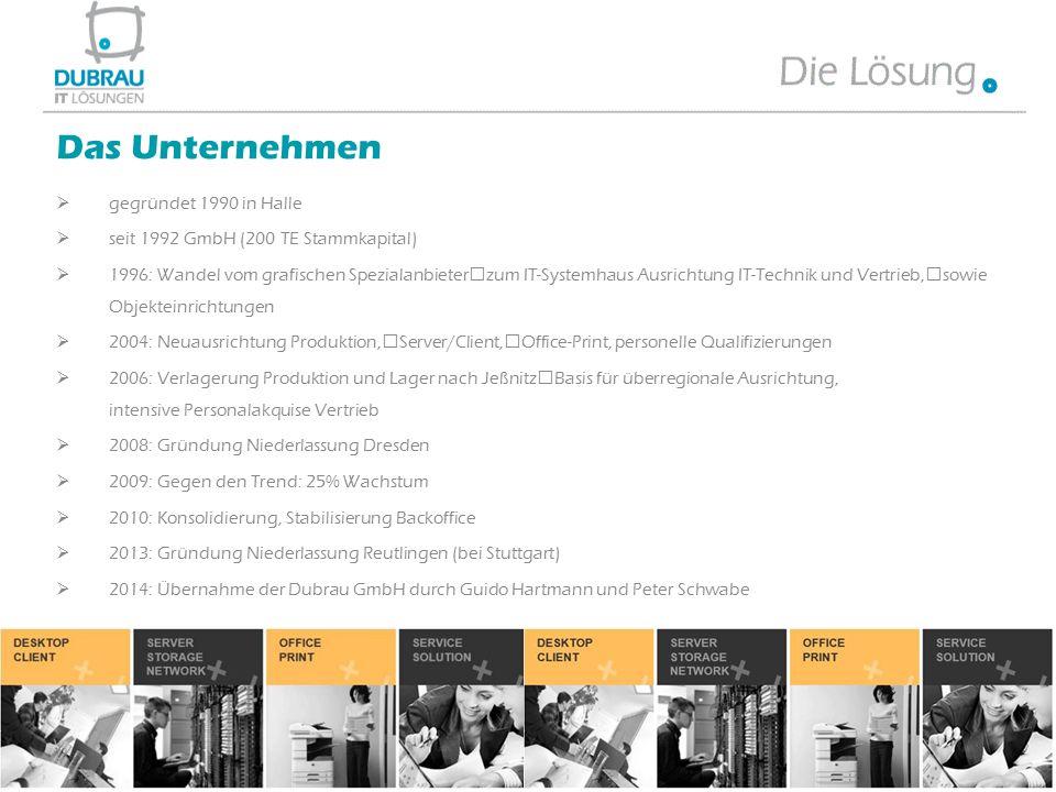 Das Unternehmen gegründet 1990 in Halle