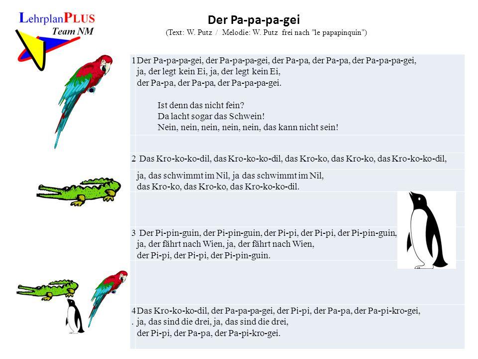 Der Pa-pa-pa-gei (Text: W. Putz / Melodie: W. Putz frei nach le papapinquin ) 1.
