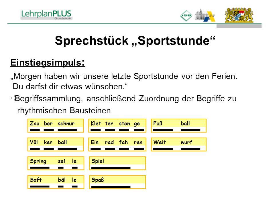 """Sprechstück """"Sportstunde"""