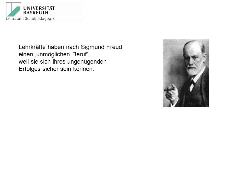 Lehrkräfte haben nach Sigmund Freud
